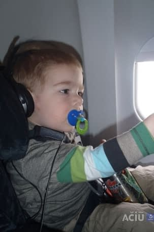 Car Seat by Airplane Window