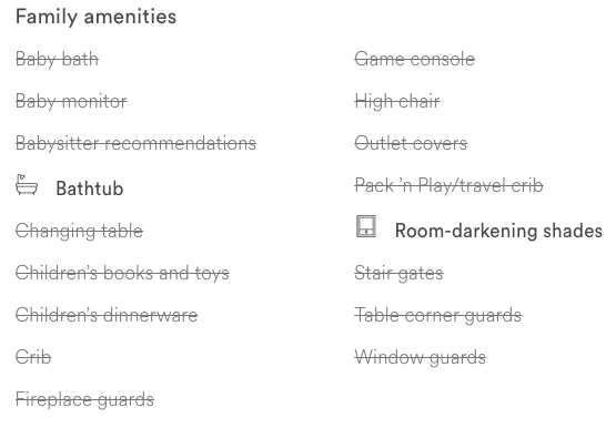 Vacation Home Amenities 1